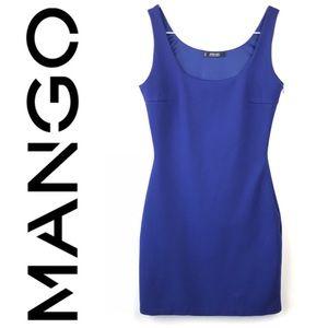 🔥 Mango Basics Royal Blue Bodycon Mini Dress XS